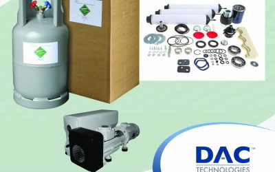 Refrigerant gases and vacuum pump parts available at DAC technologies Europe