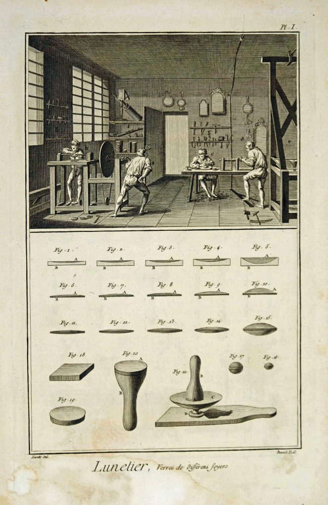 Diderot Lunetier 1, Lenses from different sources.