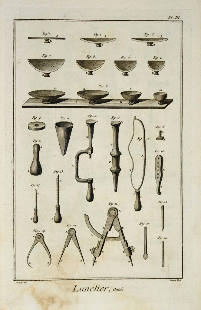 Diderot Lunetier 3, Tools.